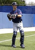 March 29, 2004:  Catcher Joe Mauer of the Minnesota Twins organization during Spring Training at Dunedin Stadium in Dunedin, FL.  Photo copyright Mike Janes/Four Seam Images