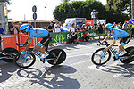 Astana Pro Team including Miguel Angel Lopez (COL) recon Stage 1 of La Vuelta 2019, a team time trial running 13.4km from Salinas de Torrevieja to Torrevieja, Spain. 24th August 2019.<br />