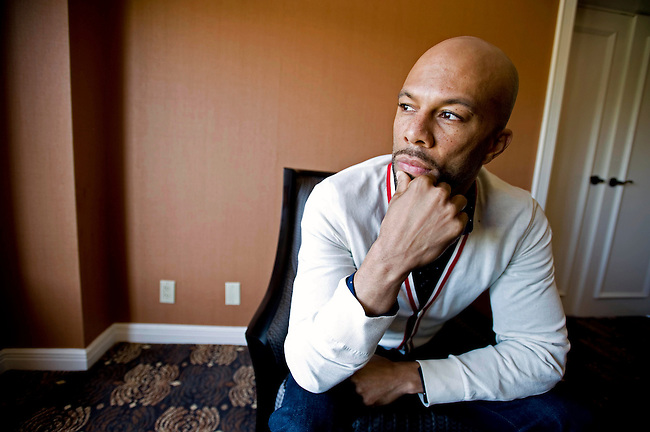 American rapper and Hip-Hop Artist Common poses for a photograph for a promotion for his new movie Just Wright in Philadelphia, PA.