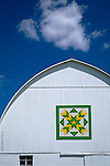 From the country series, a detail of barn painted with quilt design.
