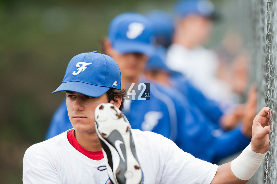 Baseball - 2009 European Championship Juniors (under 18 years old) - Bonn (Germany) - 09/08/2009 - Day 7 - Maxime Lefevre (France)