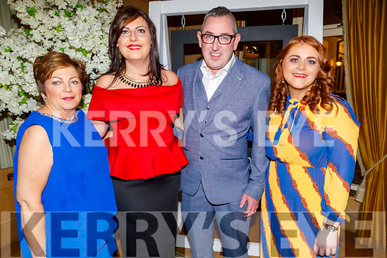 Anna McCarthy (Sneem), Kerry McCarthy (Duagh), Fintan O'Connor and Triona Brassil enjoying  the Kerry Supporters Social in the Ballygarry House Hotel on Saturday
