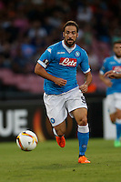 Napoli's Gonzalo Higuain  controls the ball<br />  during the Europa  League Group D soccer match against Brugge  at the San Paolo  Stadium in Naples September 17, 2015