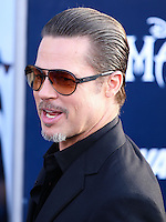 HOLLYWOOD, LOS ANGELES, CA, USA - MAY 28: Actor Brad Pitt arrives at the World Premiere Of Disney's 'Maleficent' held at the El Capitan Theatre on May 28, 2014 in Hollywood, Los Angeles, California, United States. (Photo by Xavier Collin/Celebrity Monitor)