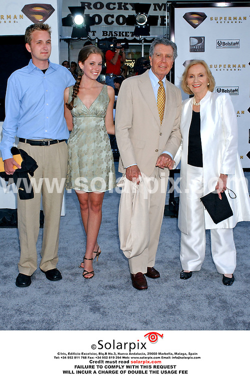 ALL ROUND PICTURES FROM SOLARPIX.COM..Stars arrive at the premiere of SUPERMAN RETURNS at the Village Theater in Westwood, California on June 21, 2006.  Job Ref: 2515/GLS. This pic: Eva Marie Saint and her family.MUST CREDIT SOLARPIX.COM OR DOUBLE FEE WILL BE CHARGED.