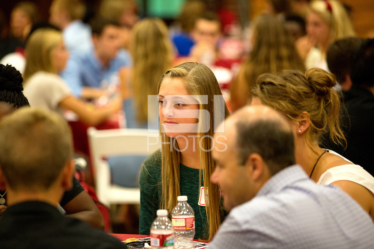 STANFORD, CA - SEPTEMBER 15, 2014--2014New Student-Athlete Orientation on behalf of the Buck/Cardinal Club.