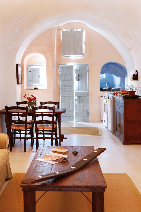 traditional cycladic living room