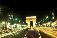 Champs Elysees and Arc de Triomphe, Paris, France