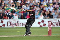 Babar Azam hits 4 runs for Somerset during Essex Eagles vs Somerset, Vitality Blast T20 Cricket at The Cloudfm County Ground on 7th August 2019
