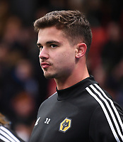 1st January 2020; Vicarage Road, Watford, Hertfordshire, England; English Premier League Football, Watford versus Wolverhampton Wanderers; Leander Dendoncker of Wolverhampton Wanderers warms up - Strictly Editorial Use Only. No use with unauthorized audio, video, data, fixture lists, club/league logos or 'live' services. Online in-match use limited to 120 images, no video emulation. No use in betting, games or single club/league/player publications