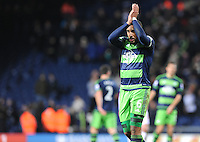 Ashley Williams of Swansea City applauds the fans during the Barclays Premier League match between West Bromwich Albion and Swansea City at The Hawthorns on the 2nd of February 2016
