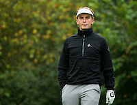 14.10.2014. The London Golf Club, Ash, England. The Volvo World Match Play Golf Championship.  Joost Luiten [NED]  on the par three eighth hole during the Pro-Am event.