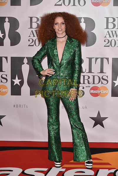 LONDON, ENGLAND - FEBRUARY 24: Jess Glynne attends the BRIT Awards 2016 at The O2 Arena on February 24, 2016 in London, England<br /> CAP/PL<br /> &copy;Phil Loftus/Capital Pictures
