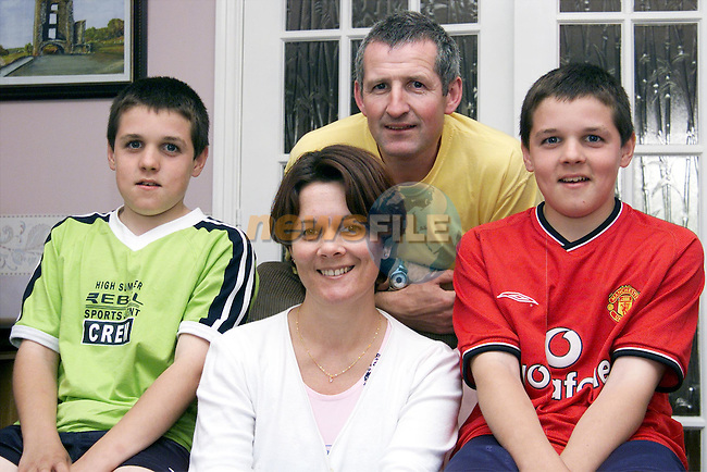 Sean and David Campbell with thier parents Martin and Maria..Picture: Paul Mohan/Newsfile