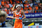 The Hague, Netherlands, June 14: Eva de Goede #24 of The Netherlands looks on during the field hockey gold medal match (Women) between Australia and The Netherlands on June 14, 2014 during the World Cup 2014 at Kyocera Stadium in The Hague, Netherlands. Final score 2-0 (2-0)  (Photo by Dirk Markgraf / www.265-images.com) *** Local caption ***