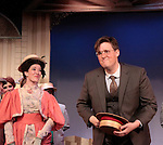 "Hannah Eakin ""Irene Malloy"" and Patrick Hunter ""Cornelius Hackl"" star in Hello Dolly at the Barn Theatre iin its 68th season n Augusta, Michigan on opening night on August 19, 2014 at the curtain call. (Photo by Sue Coflin/Max Photos)"