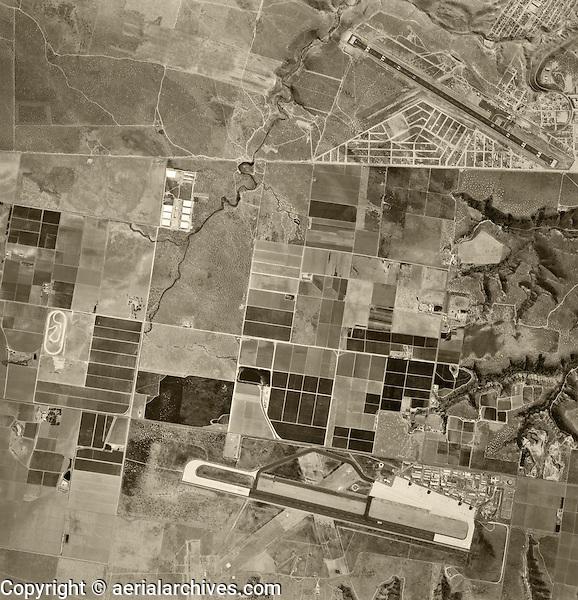 historical aerial photograph Otay Mesa, San Diego, California and Tijuana, Baja, Mexico, 1966