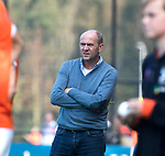 BLOEMENDAAL  - coach Michel van den Heuvel (Bl'daal)   Hoofdklasse competitie heren, Bloemendaal-HGC (7-2). COPYRIGHT KOEN SUYK