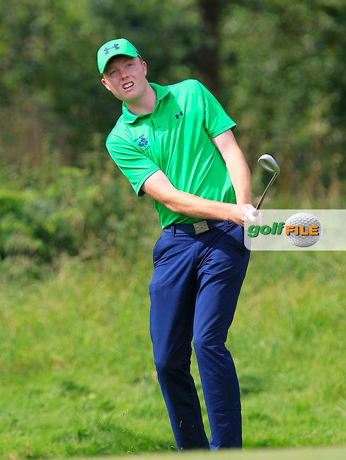 Robin Dawson (Ireland) on the 1st during the Day 1 Singles of the Home Internationals at Moortown Golf Club, Leeds, England. 16/08/2017<br /> Picture: Golffile | Thos Caffrey<br /> <br /> All photo usage must carry mandatory copyright credit     (&copy; Golffile | Thos Caffrey)