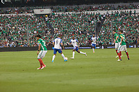 Mexico City, Mexico - Sunday June 11, 2017: Bobby Wood, Darlington Nagbe during a 2018 FIFA World Cup Qualifying Final Round match with both men's national teams of the United States (USA) and Mexico (MEX) playing to a 1-1 draw at Azteca Stadium.