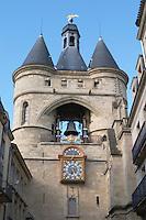 Porte de la Grosse Cloche. Bordeaux city, Aquitaine, Gironde, France