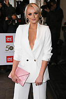 LONDON, UK. March 12, 2019: Katie McGlynn arriving for the TRIC Awards 2019 at the Grosvenor House Hotel, London.<br /> Picture: Steve Vas/Featureflash