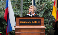 Guest speaker Ann Kerr-Adams '56 addresses the graduates<br />