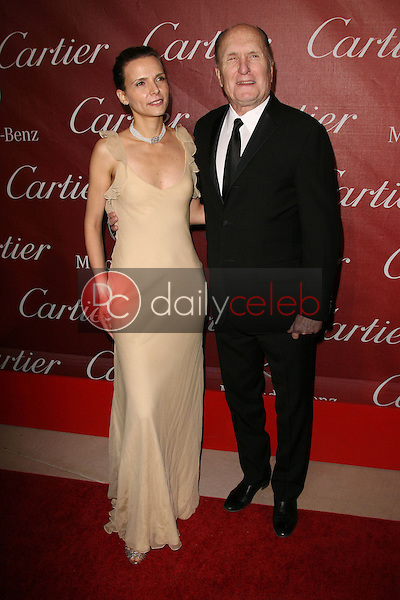 Robert Duvall and wife Luciana Duvall<br />