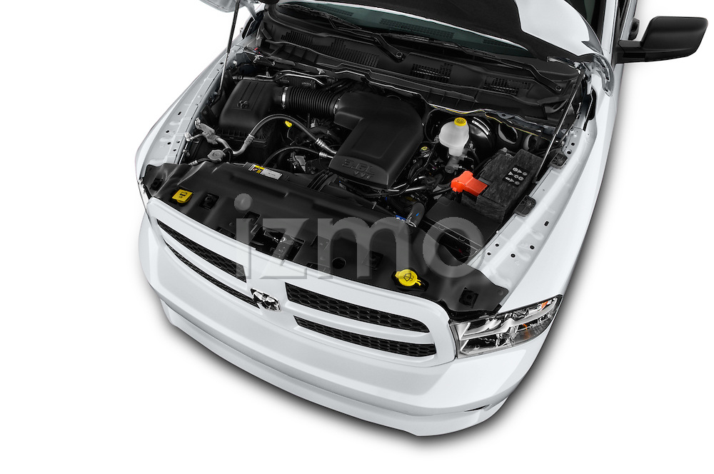 Car Stock 2016 Ram 1500 Express Express 4 Door Pickup Engine  high angle detail view