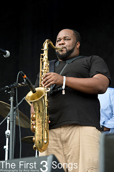 Erion Williams of The Soul Rebels performs during the Forecastle Music Festival at Waterfront Park in Louisville, Kentucky.