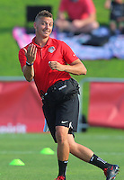 Boyds, MD - Saturday July 09, 2016: Pierre Soubrier prior to a regular season National Women's Soccer League (NWSL) match between the Washington Spirit and the Chicago Red Stars at Maureen Hendricks Field, Maryland SoccerPlex.