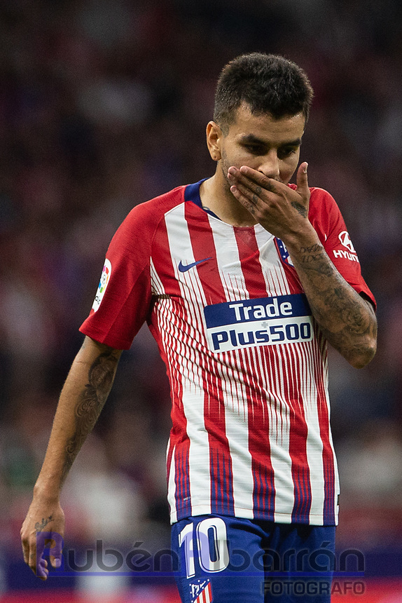 Angel Correa of Atletico Madrid during the match between Atletico Madrid v SD Huesca of LaLiga, 2018-2019 season, date 6. Wanda Metropolitano Stadium. Madrid, Spain - 25 September 2018. Mandatory credit: Ana Marcos / PRESSINPHOTO