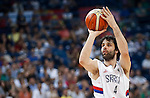 BELGRADE, SERBIA - JULY 04: Milos Teodosic of Serbia in action during the 2016 FIBA World Olympic Qualifying basketball Group A match between Serbia and Puerto Rico at Kombank Arena on July 04, 2016 in Belgrade, Serbia. (Photo by Srdjan Stevanovic/Getty Images)