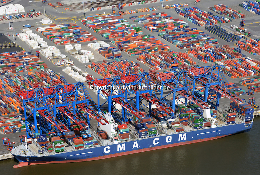 CMA CGA Nevada am Burchardkai: EUROPA, DEUTSCHLAND, HAMBURG, (EUROPE, GERMANY), 05.06.2015 CMA CGA Nevada Containerschiff am Burchardkai