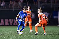Allston, MA - Wednesday Aug. 31, 2016: Ghoutia Karchouni, Ellie Brush during a regular season National Women's Soccer League (NWSL) match between the Boston Breakers and the Houston Dash at Jordan Field.