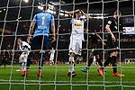 10.03.2018, BayArena, Leverkusen , GER, 1.FBL., Bayer 04 Leverkusen vs. Borussia Moenchengladbach<br /> im Bild / picture shows: <br /> li Josip Drmic (Gladbach #18),  aergert sich ueber eine vergebene Chance und mitte Lars Stindl (Gladbach #13),  ebenfalls <br /> <br /> <br /> Foto &copy; nordphoto / Meuter