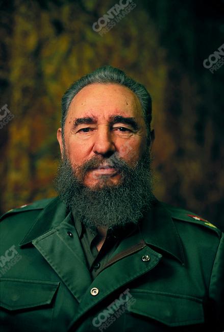 Fidel Castro, President of Cuba, Havana, Cuba, February 1995<br />
