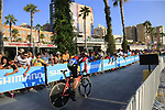 Nicolas Roche (IRL) BMC Racing Team during Stage 1 of the La Vuelta 2018, an individual time trial of 8km running around Malaga city centre, Spain. 25th August 2018.<br /> Picture: Ann Clarke | Cyclefile<br /> <br /> <br /> All photos usage must carry mandatory copyright credit (© Cyclefile | Ann Clarke)