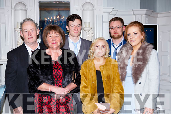 Tom, kathleen and Sean Kelliher, Zoe O'Shea, Paudie Kelliher and Maeve Poff at the Beaufort GAA social in the Killarney Avenue on Saturday night