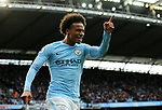 Manchester City's Leroy Sane celebrates scoring his sides fourth goal during the premier league match at the Etihad Stadium, Manchester. Picture date 9th September 2017. Picture credit should read: David Klein/Sportimage