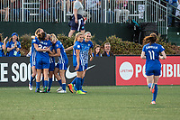 Boston, MA - Saturday April 29, 2017: Boston Breakers during a regular season National Women's Soccer League (NWSL) match between the Boston Breakers and Seattle Reign FC at Jordan Field.