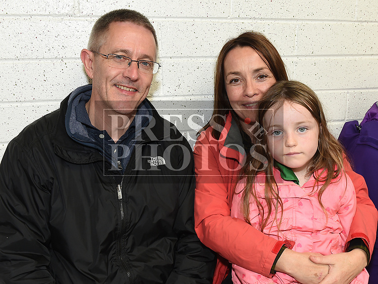 Michael Egan, Gillian and Mary `may Kierans at the official opening of the new dressing rooms at St Mary's GFC Donore.  Photo:Colin Bell/pressphotos.ie