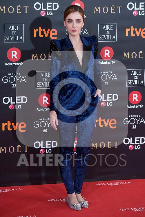 Leticia Dolera attends red carpet of Goya Cinema Awards 2018 at Madrid Marriott Auditorium in Madrid , Spain. February 03, 2018. (ALTERPHOTOS/Borja B.Hojas)