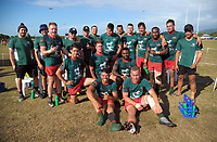 The Wairarapa Bush men's team. 2017 Bayleys Central Regional Sevens at Playford Park in Levin, New Zealand on Saturday, 9 December 2017. Photo: Dave Lintott / lintottphoto.co.nz
