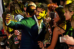 Actor Diego Martin taking a selfie with fans during orange carpet of 'Velvet' during FestVal in Vitoria, Spain. September 04, 2018. (ALTERPHOTOS/Borja B.Hojas)