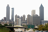 The Atlanta skyline on Saturday October 1, 2005. Photo by Jane Therese/Sipa