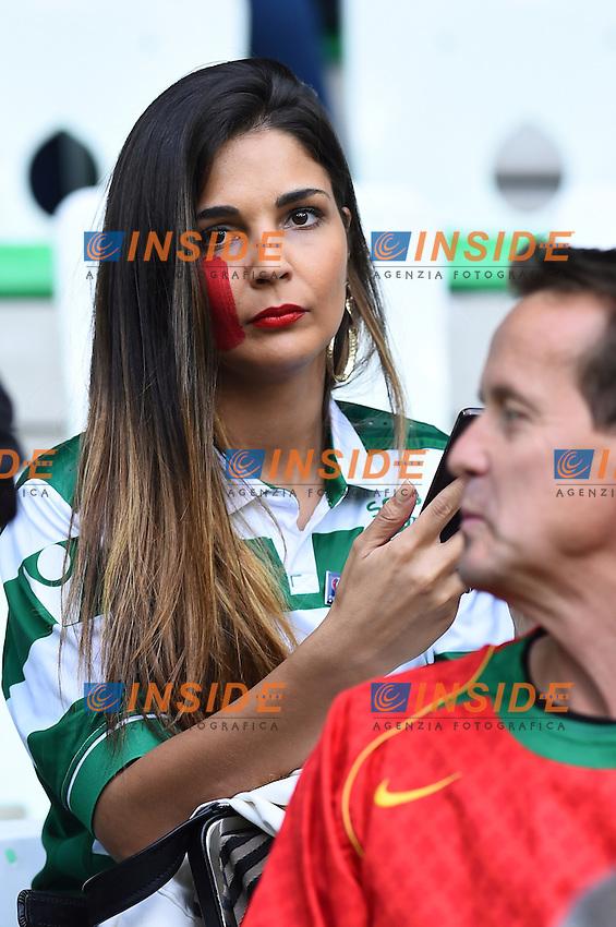 Tifosi Portogallo Supporters Portugal <br /> Saint-Etienne 14-06-2016 Stadium Geoffroy-Guichard Football Euro2016 Portugal-Iceland / Portogallo-Islanda Group Stage Group F<br /> Foto Massimo Insabato / Insidefoto