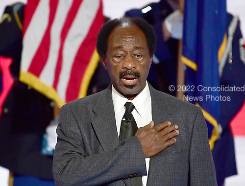 Monroe Handy leads the Pledge of Allegiance to open the third session of the 2016 Democratic National Convention at the Wells Fargo Center in Philadelphia, Pennsylvania on Wednesday, July 27, 2016.<br /> Credit: Ron Sachs / CNP<br /> (RESTRICTION: NO New York or New Jersey Newspapers or newspapers within a 75 mile radius of New York City)