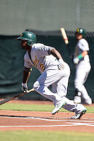 Oakland Athletics outfielder B.J. Boyd (12) during an Instructional League game against the San Francisco Giants on October 13, 2014 at Giants Baseball Complex in Scottsdale, Arizona.  (Mike Janes/Four Seam Images)