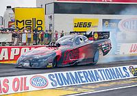 Jul 18, 2020; Clermont, Indiana, USA; NHRA funny car driver Cruz Pedregon during qualifying for the Summernationals at Lucas Oil Raceway. Mandatory Credit: Mark J. Rebilas-USA TODAY Sports